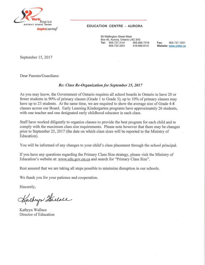 Parent Letter from Director