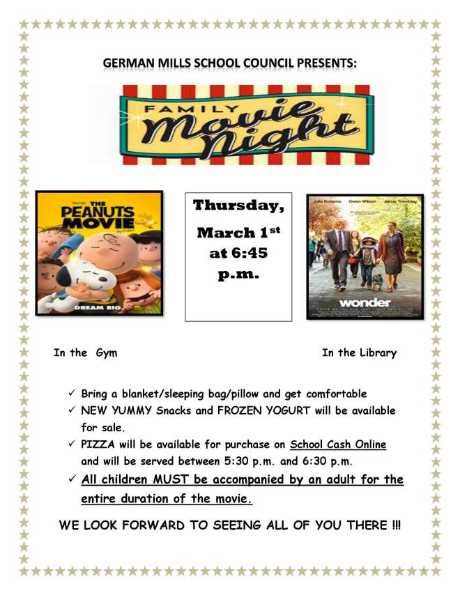 Movie night march 1st