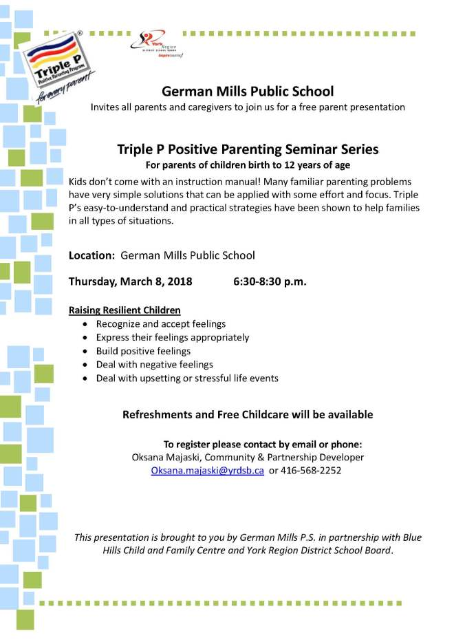 Raising Resilient Children March 2-registration